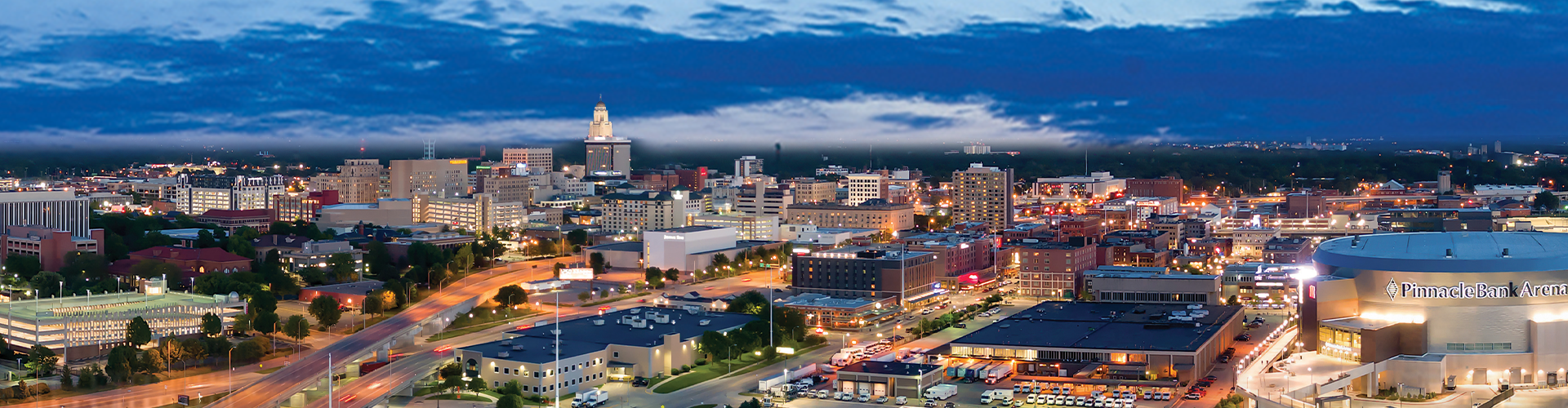 panorama of downtown lincoln
